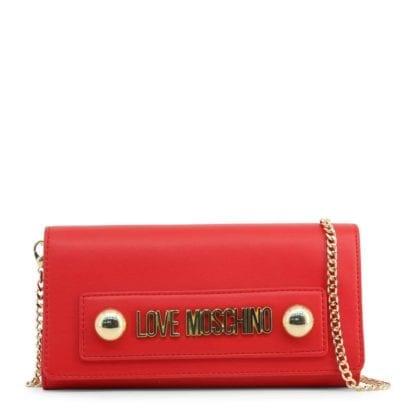 luxury red clutch bag