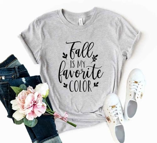 Beautiful Fall is My favorite Color T-Shirt 1