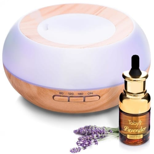 Essential Oil Diffuser with 30ml Lavender Sample 1